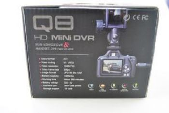 Миниатюрный видеорегистратор Q8