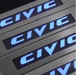 Накладки на пороги HONDA CIVIC 2011-2013